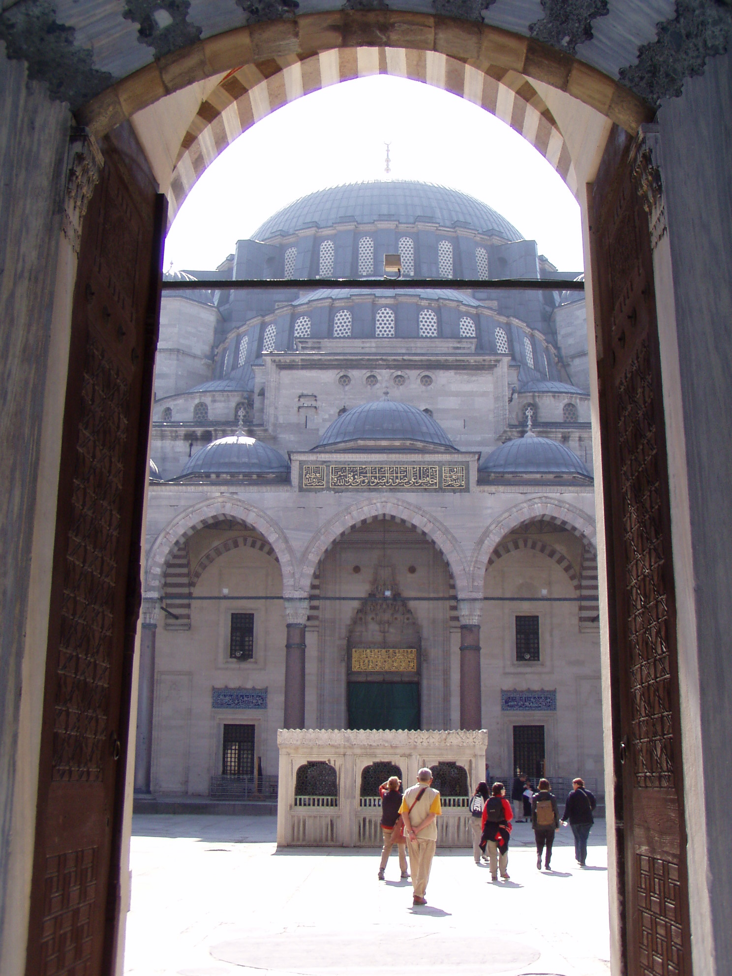 Mosque through doorway Turkey